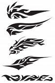 vector set of tribal symbols