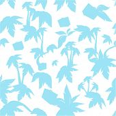 the vector seamless texture with palms