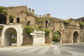 Roman Gate At The End Of Via Veneto