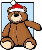 plush bear with christmas hat