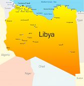 Abstract vector color map of Lybia country