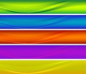 Abstract vector colorful banners
