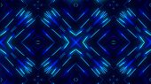 Kaleidoscopes Background With Animated Glowing Neon Colorful Lines. Kaleidoscopes Background With An poster