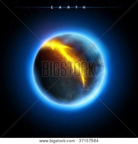 Постер, плакат: сломанной планеты вектор, холст на подрамнике