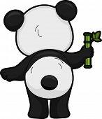 Illustratie met het achteraanzicht van een Giant Panda