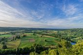 panoramic view from dome over the dordogne river dordogne perigord France