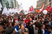 Moskau - 15.9.: Opposition Aktivisten und Unterstützer nehmen Sie Teil an einem Anti-Putin-Protest am Sep