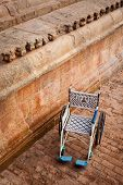 stock photo of chola  - Public wheelchair in Brihadishwarar Temple  - JPG