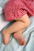 Sleeping Baby Legs