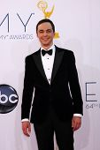LOS ANGELES - SEP 23:  Jim Parsons arrives at the 2012 Emmy Awards at Nokia Theater on September 23,