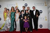 LOS ANGELES - SEP 23:  Modern Family Cast in the press room of the 2012 Emmy Awards at Nokia Theater