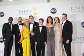 LOS ANGELES - 23 de setembro: Pátria Cas na sala de imprensa do 2012 Emmy Awards, no Nokia Theater, em Se