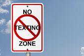 Nenhuma zona de mensagens de texto