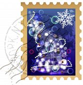 clip-art christmas stamp
