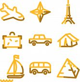 Travel 2 Icons, Gold Contour Series poster