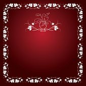 wine leaf red pattern