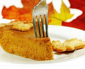 Pumpkin Pie With A Fork