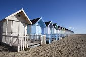 Beach Huts, West Mersea, Essex, England