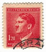 GERMANY - CIRCA 1937: A stamp printed in Germany shows image of Adolf Hitler was an Austrian-born Ge