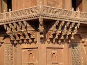 stock photo of khas  - Sandstone carving at Diwan - JPG