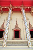 foto of hobgoblin  - Thai classic style window of temple in Thailand - JPG