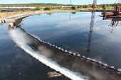 pic of wastewater  - Industrial round sedimentation reservoir of wastewater treatment - JPG
