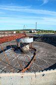 Empty Huge Round Form Sedimentation Settler Tank In Treatment Plant