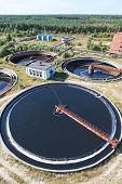 Huge Circular Sedimentation Tank  Water Settling, Purification In The Water Station