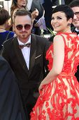 LOS ANGELES - SEP 23: Ginnifer Goodwin, Aaron Paul at the 64th Primetime Emmy Awards held at Nokia Theater L.A. Live on September 23, 2012 in Los Angeles, California