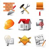 Highly detailed building icons set