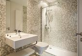 stock photo of toilet  - Interior new house - JPG