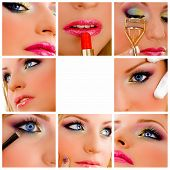 Schoonheid - make-up Collage