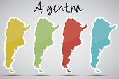 pegatinas en forma de Argentina