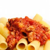 Rigatoni With Sausage-tomato Sauce
