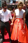 LOS ANGELES - JUN 20:  Casper Smart, Jennifer Lopez at the Hollywood Walk of Fame star ceremony for