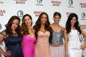 LOS ANGELES - JUN 17:  Judy Reyes, Ana Ortiz, Dania Ramirez, Roselyn Sanchez, Edy Ganem arrive at th