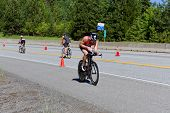 Ben Hoffman In The Coeur D' Alene Ironman Cycling Event