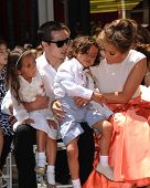LOS ANGELES - JUN 20:  Emme Anthony, Casper Smart, Jennifer Lopez, Max Anthony at the Hollywood Walk