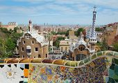 BARCELONA - MAY 9 :The famous Park Guell on May 9, 2013 in Barcelona, Spain. Park Guell is the famou