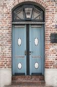 Vintage Style Country Door In Blue