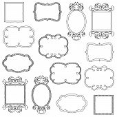 stock photo of girly  - Vector Set of Hand Drawn Doodle Frames - JPG
