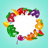 Assorted Fruit Splash Element