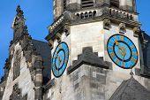 Church Clock In Leipzig, Germany