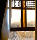 Nabawi Mosque from out of the window