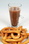 image of churros  - Spanish Churros and hot chocolate Andalusia Spain Western Europe - JPG