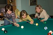 Women Playing Billiards