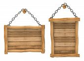 empty wooden board hanging