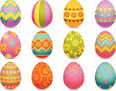 picture of easter-eggs  - The Vector illustration  - JPG
