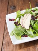 Fresh gourmet raw spinach salad