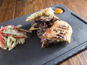 Rare Grilled Steak Panini